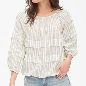 Gap Pleated Tiered Blouson Top